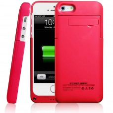 Portable 2200mAh External Battery Charger Case Power for iPhone 5 5S, Red