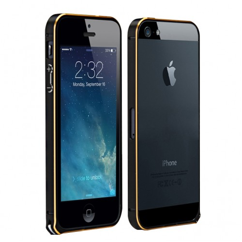 Metal Bumper For IPhone 5 Black Gold