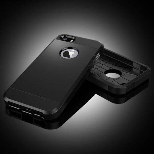 91ecbc2ca27 iPhone 5/5S Outfit Aluminum and Polycarbonate Dual Case, Black & Grey