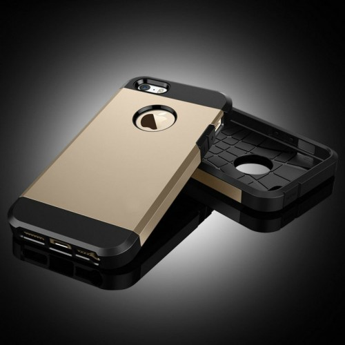 IPhone 5 5S Outfit Aluminum And Polycarbonate Dual Case Black Gold