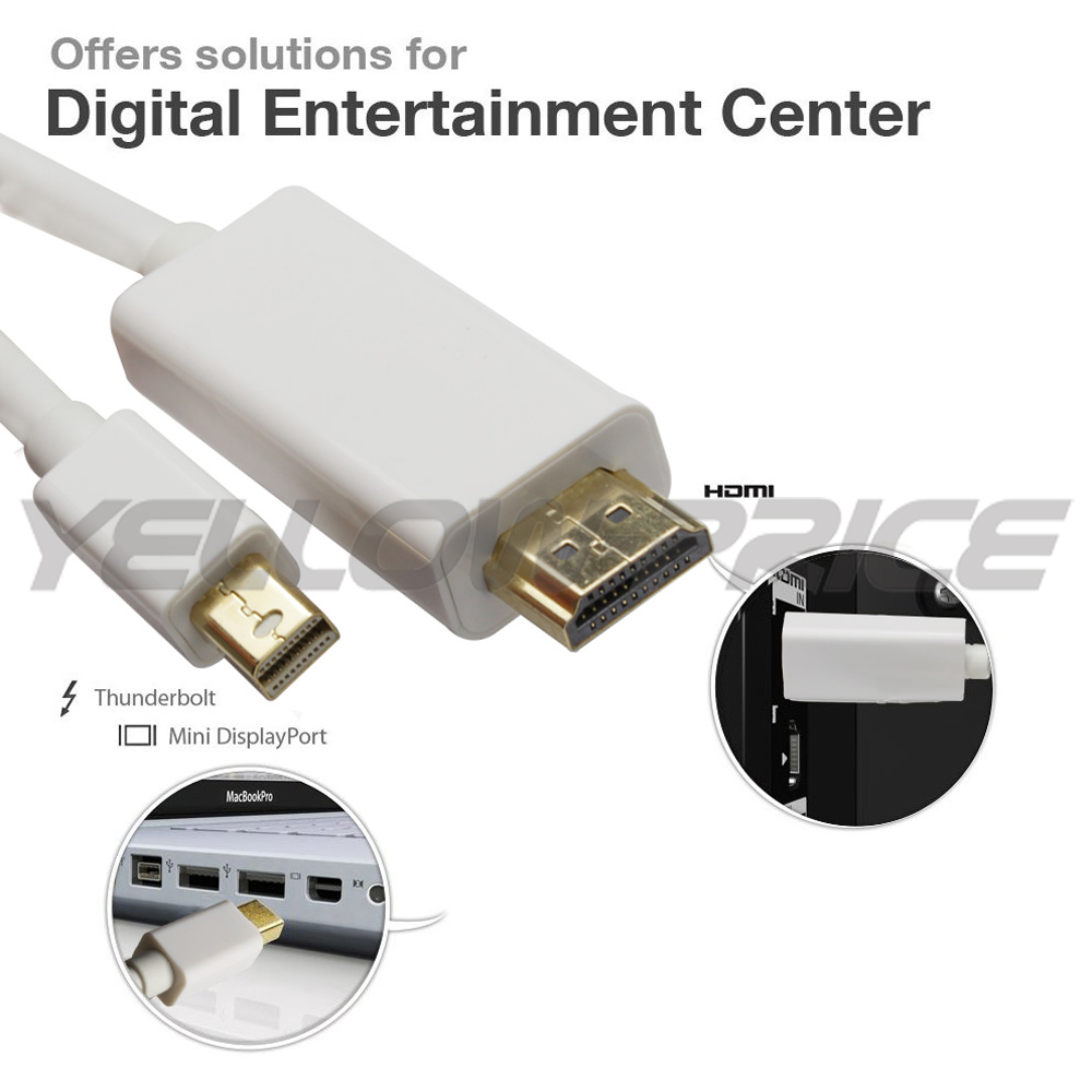 Yellowprice Mini Displayport To Hdmi Cable Thunderbolt