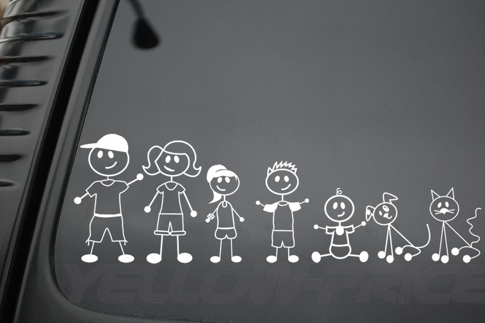 Retail Value Of Car >> FAMILY STICKERS CUSTOM FIGURES DOG CAT CAR WINDOW VINYL DECAL STICKER