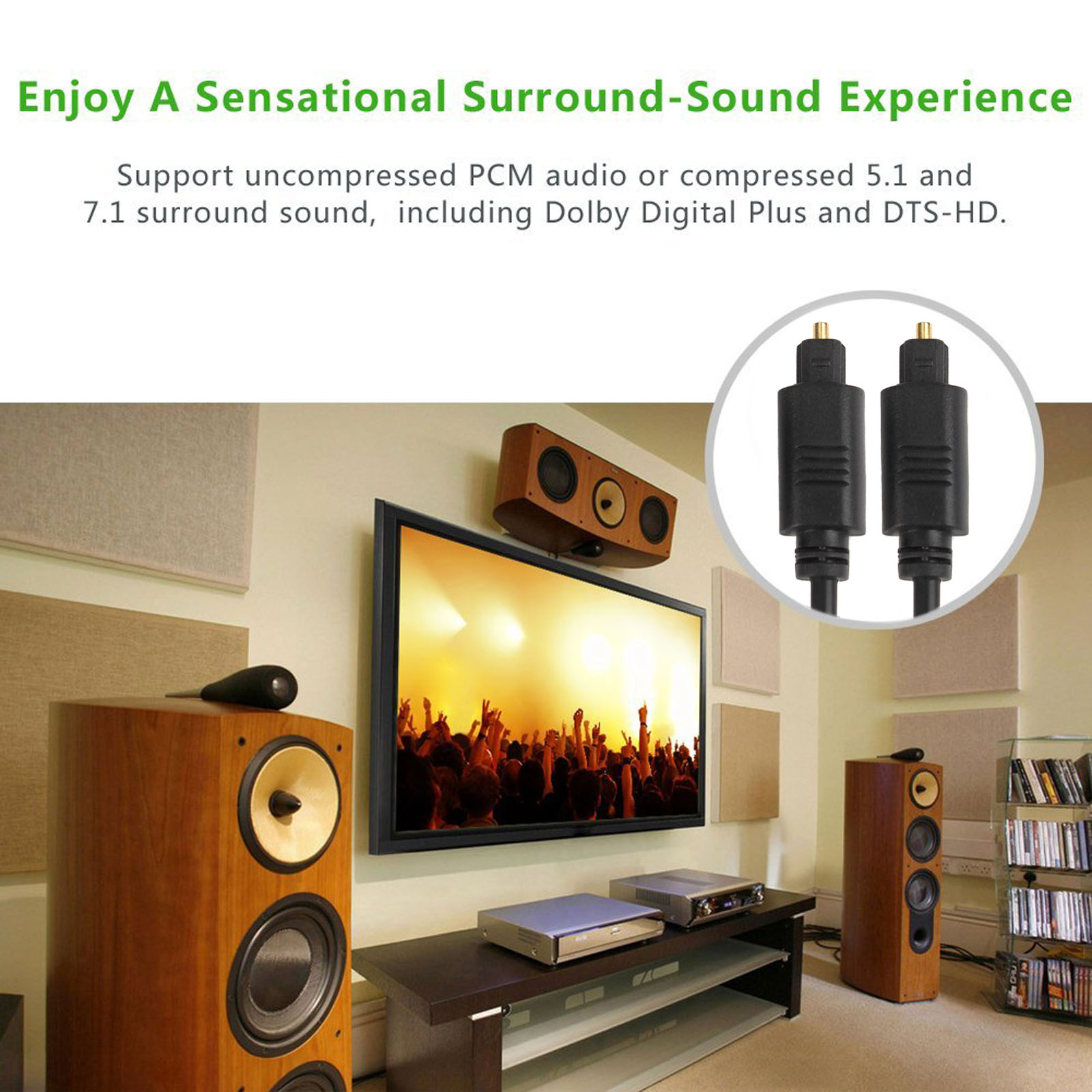 Optical Audio Cable Digital Cord For Home Theater Sound Wiring Components An Ecommerce Leader Specializing In High Quality Cables And Accessories Computer Consumer Electronics Established 2010 We Have