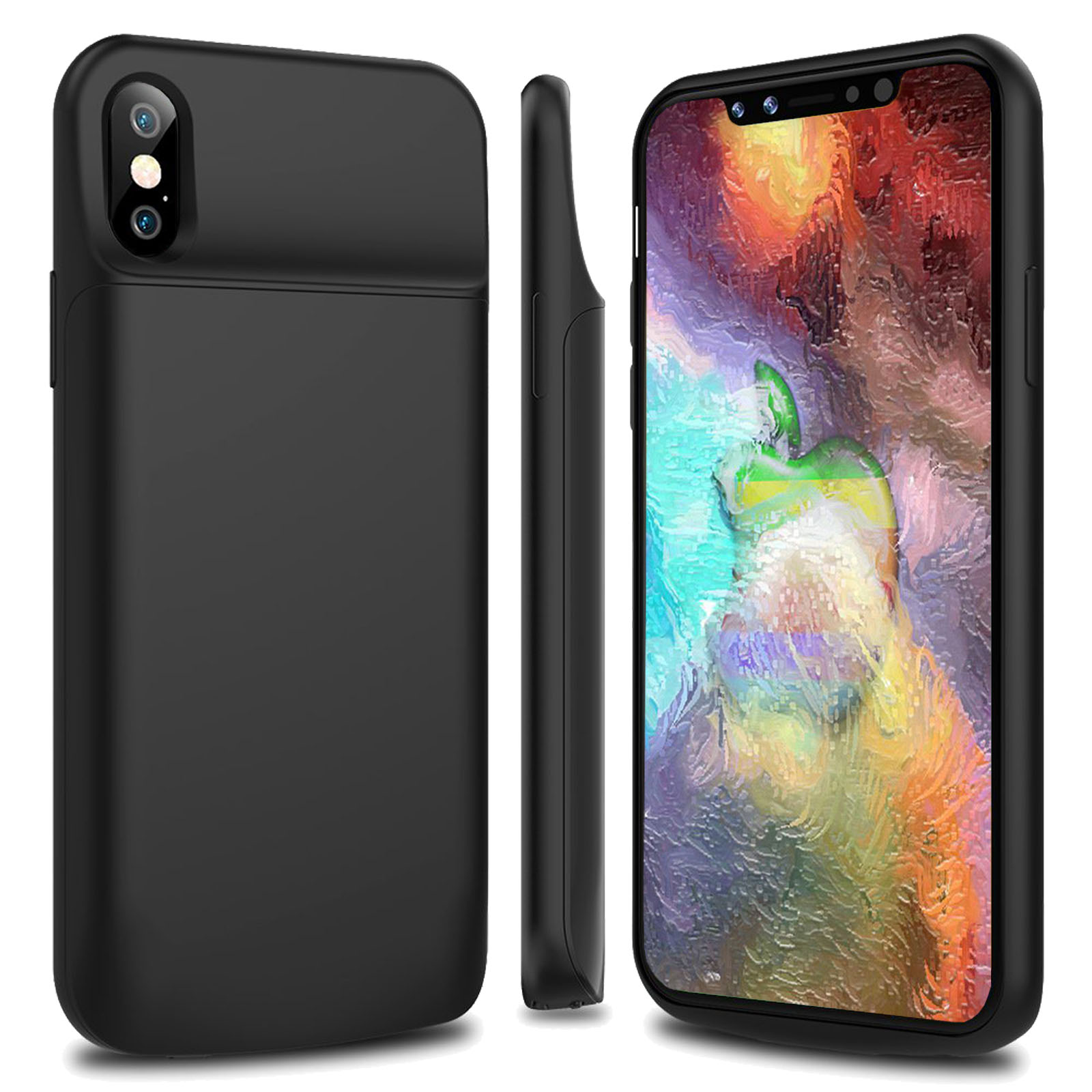best service 9db7f 298ca Details about Ultra-Slim 6000mAh Battery Charging Case Power Bank for  iPhone X 8 7 6 5 5C SE