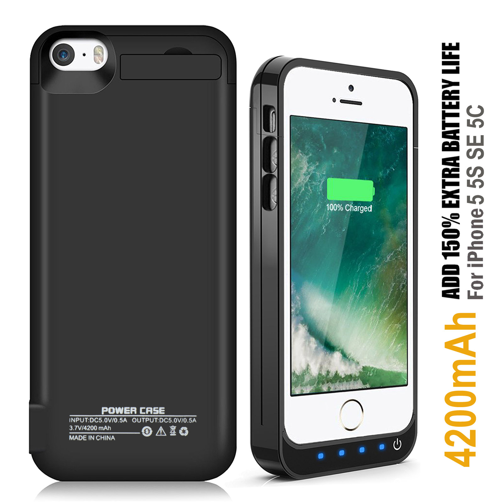 online retailer 6d963 e67fe Details about Ultra-Slim Battery Charger Case Backup Power Bank Charging  Cover F iPhone X & XS