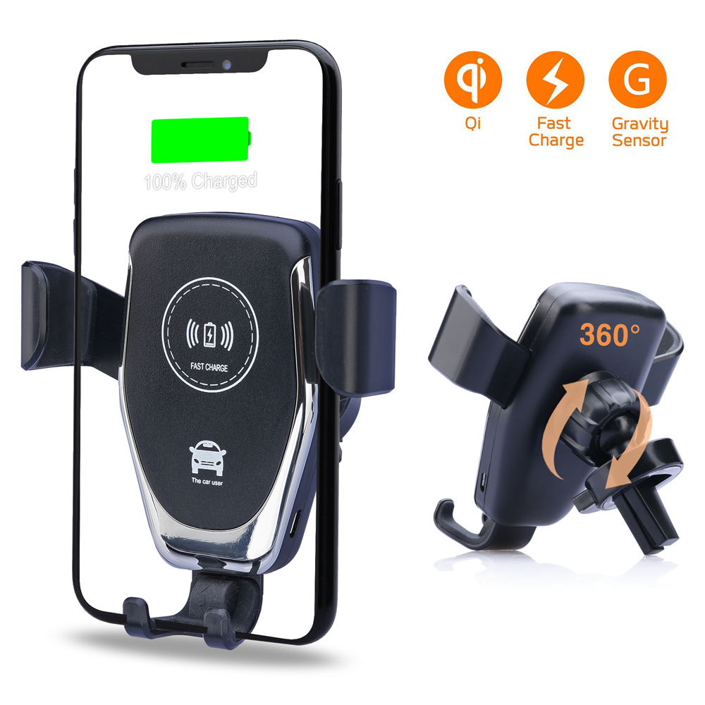 New 5.4A Aluminium Car Charger Qi Fast Wireless Charger