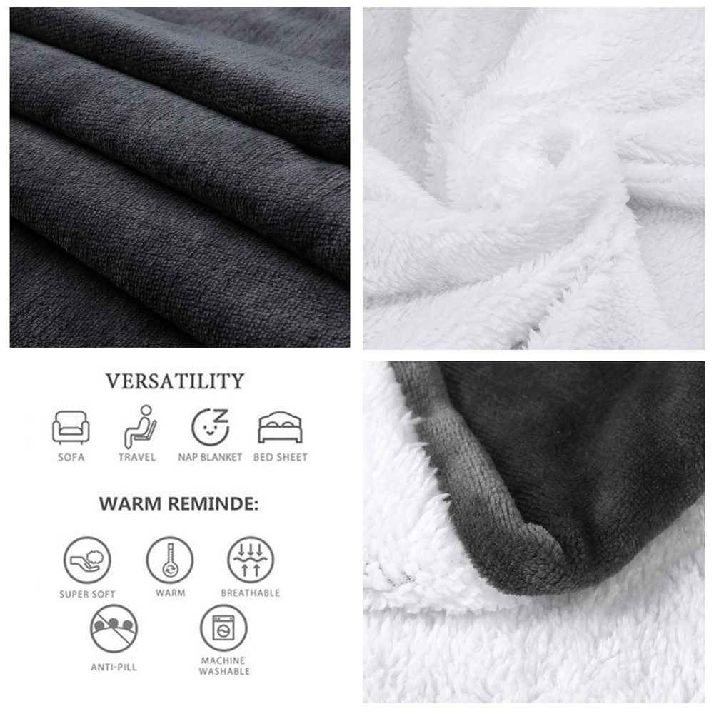 Sherpa Blanket Double Layer  Bed Thick Warm Cozy Home Winter Blankets Super Soft