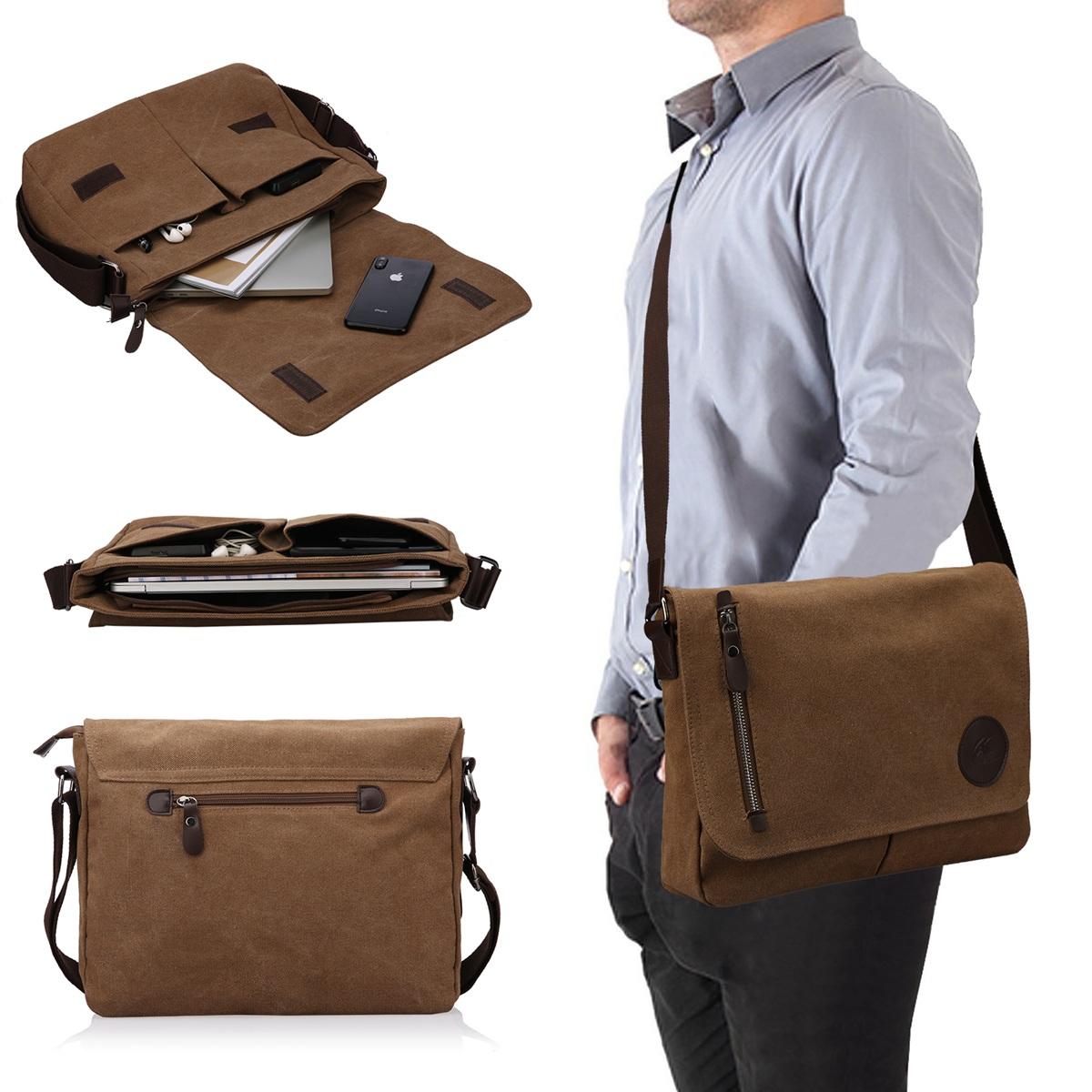 Men/'s Classic Large Messenger Shoulder Bag Expandable Bag Crossbody Bike Laptop