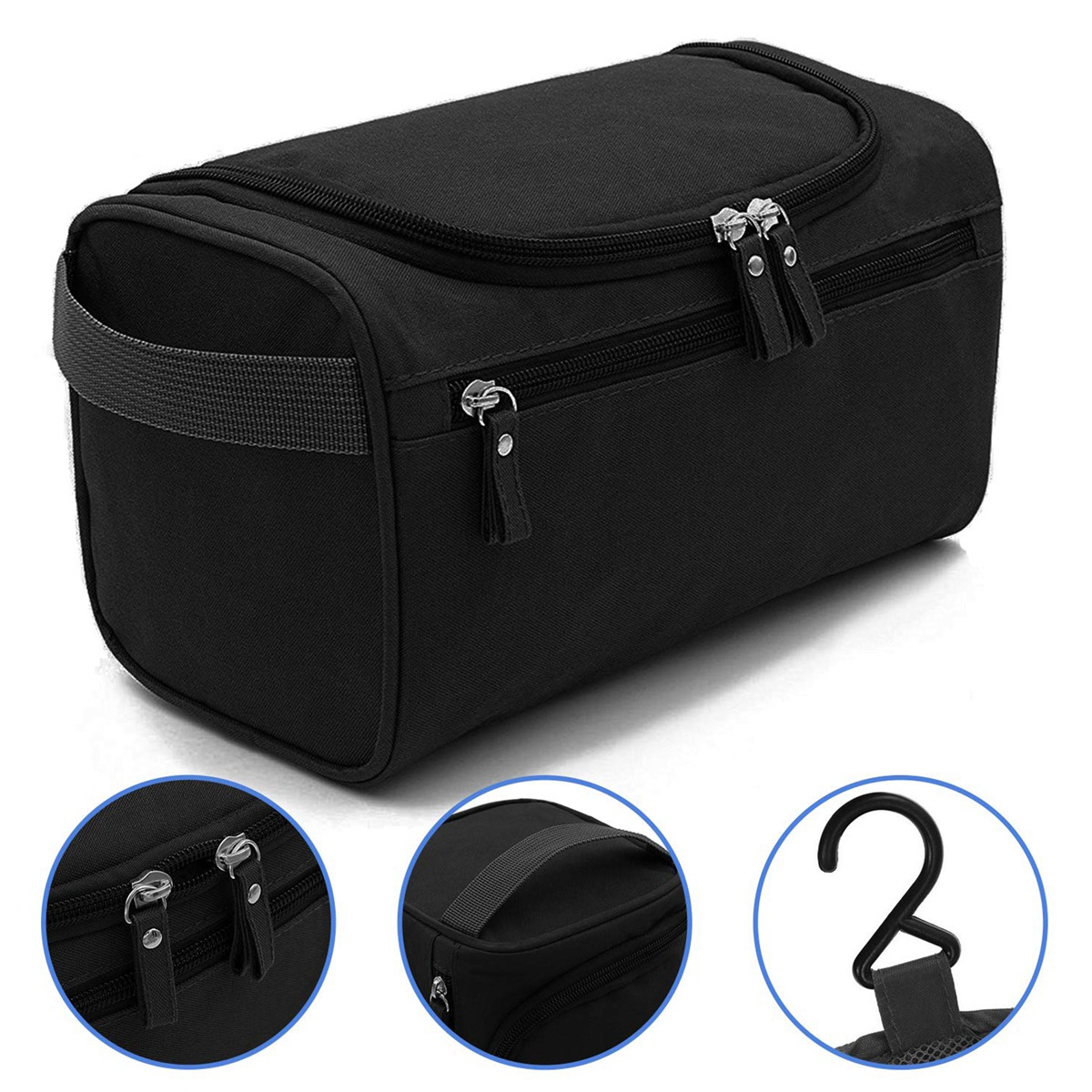 7013e4647b9a Details about Travel Toiletry Bag Dopp Kit Organizer for Men - Large  Waterproof Shaving bags