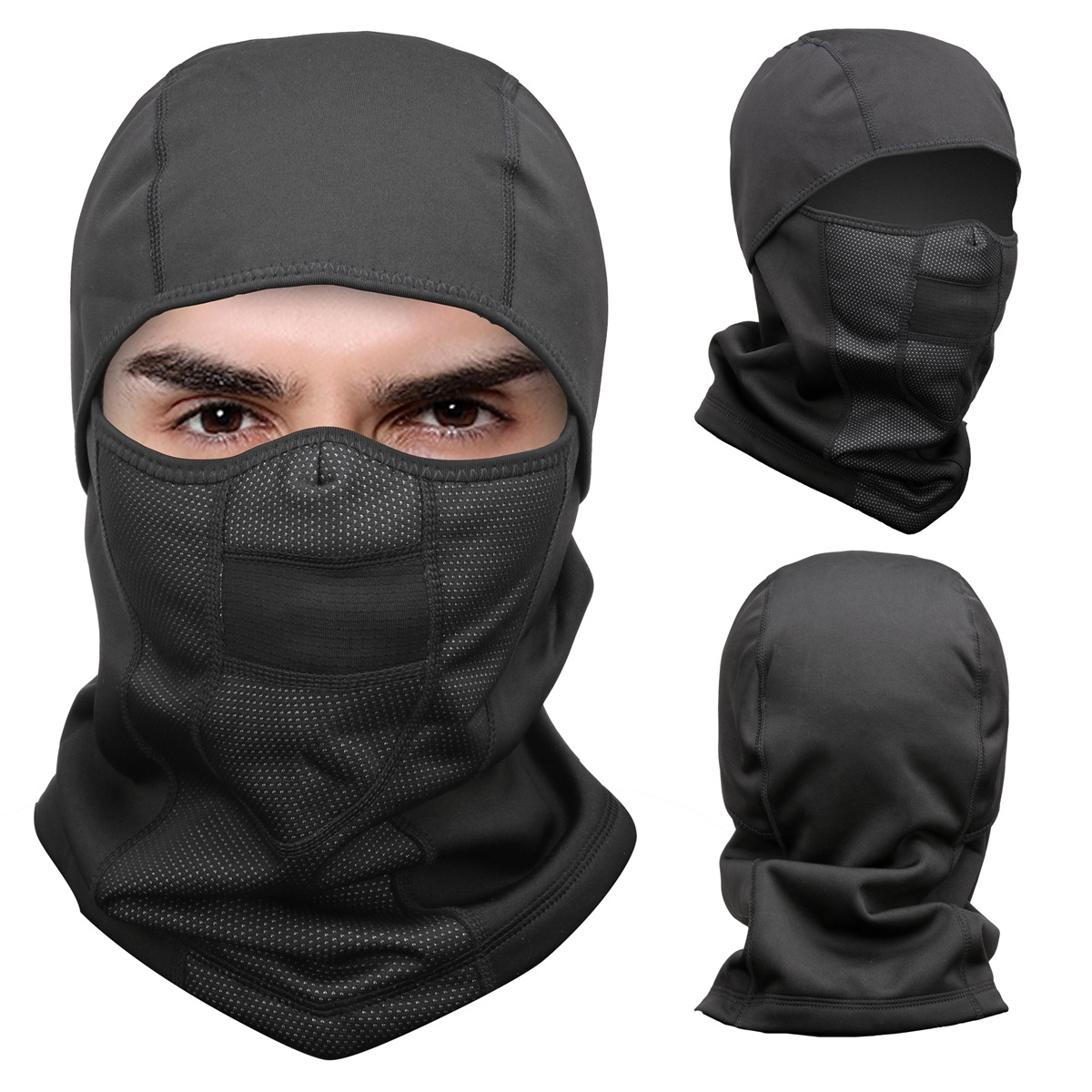 2e65452554d27 Details about Balaclava Fleece Hood   Windproof Ski Mask - Extreme Cold  Weather Face Mask